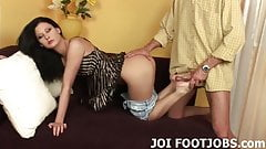 I want to feel your hot cock between my panties JOI