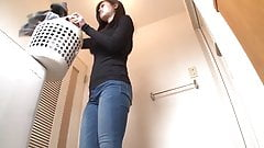 Rough sex and cum shot my thin sister in the bathroom  p8