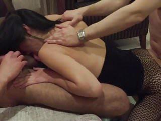 Husband Films Slut Wife Fucking Two Strangers (Cuckold)