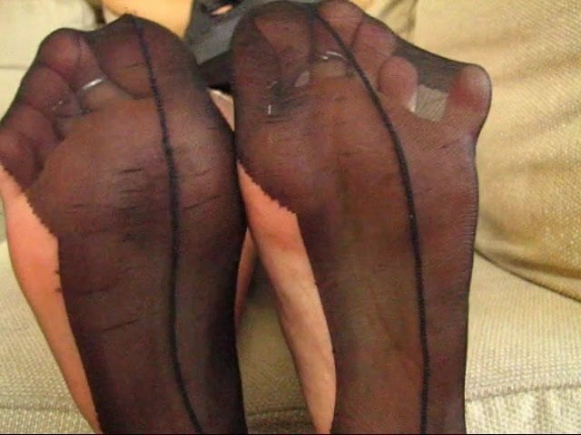 Pointe shoe fetish peekaboo