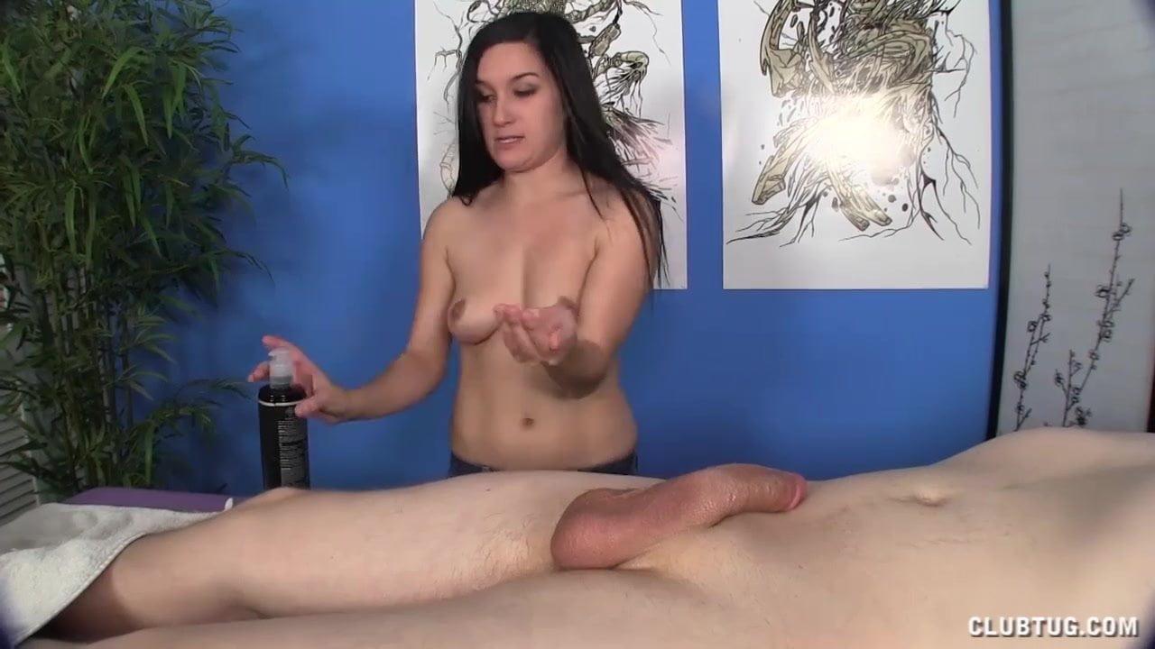 Guy gets handjob from masseuse video