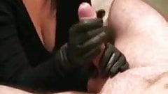 Hubby gets a hand job.