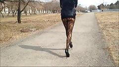 walking micro upskirt