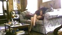 Mom masturbates in living room