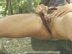 park bench pee