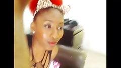 Webcam latina closeup