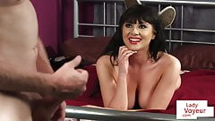 British babe undress and clitrubs during JOI's Thumb