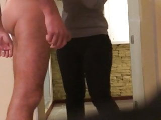 Russian man flashing his cock in solarium hidden cam