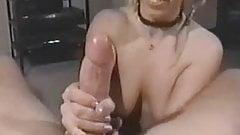 Classic handjob raver chick