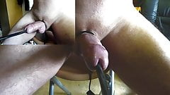 Amazing estim POV orgasm peehole electrostim zoom cam01
