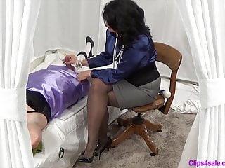 Femdom Mistress Handjob For Sissy Crossdresser