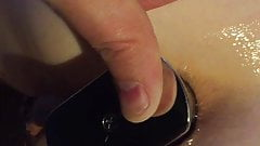Boltonwife takes a steel buttplug up the ass