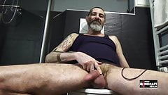 Jerking my cock watching porn videos