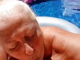 granny suck in pool 2