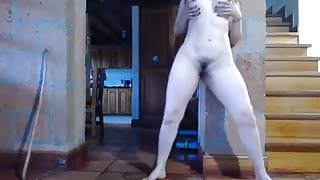 Hot latina girl squirt machine