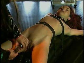 Asian slave teased in BDSM action