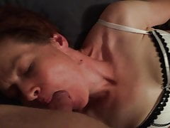 Orgasm with vibrator and BJ on period
