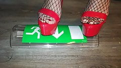 Lady L crush sign with red sexy high heels