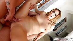 Cute blondie Ani Black Fox on All Internal gets double
