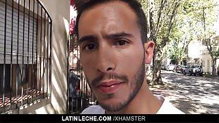 POV camera man fucking straight Latin macho stud
