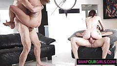 Horny guys swapping their daughters