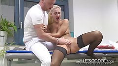 Big busted blonde gets fucked hardcore by a masseur