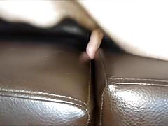 Teen chub leather couch sofa humping cum