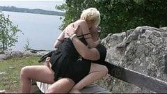 scandi couple fucking in nature's Thumb
