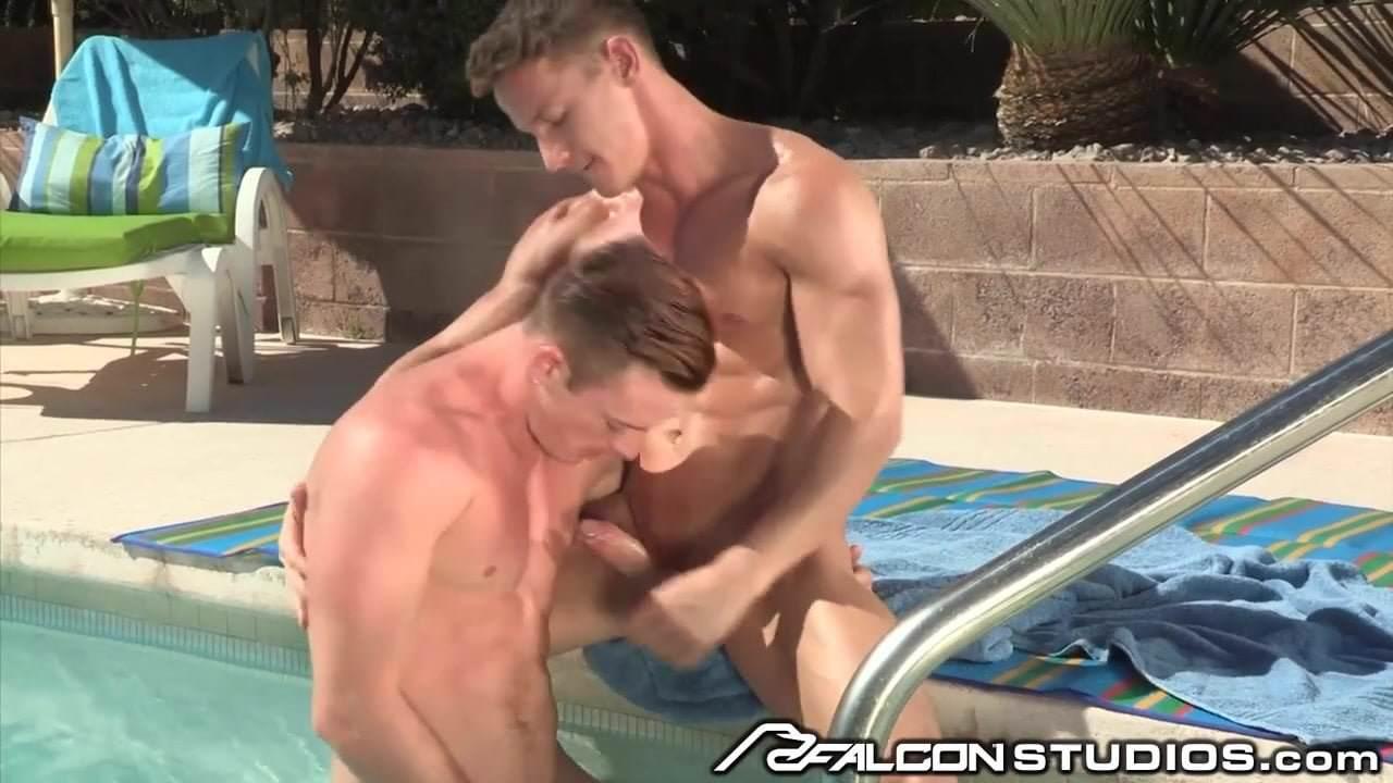 Lover gives teamy gay blowjob to hunk