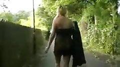 Busty Amateur Geordie Flashing in Public