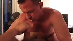 Tony Lazzari strokes Mitch Roberts load
