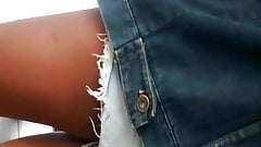 Novinha jeans surrado