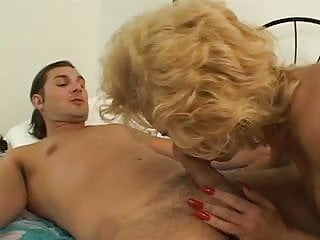 MILF bangs a young stud