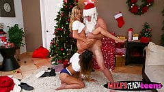 not mother and daughter ride Santas candy cane