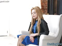Beautiful petite screwed by casting agent