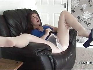Miss Pussy Heel teases her clit with high heels for orgasm
