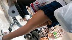 Hot Mom's Legs and upskirt