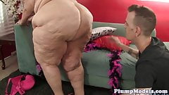 Mature BBW doggystyled before sucking cock