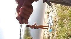 2 Dick Flash & 1 CUM vs. 1Girl - Beach Passion17 2015