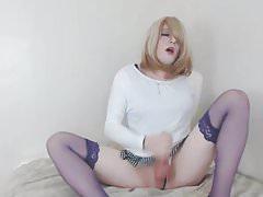 Erica Makes Her Massive Hard Cock Cum