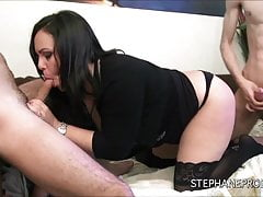 Nathalie Cruz a spanish fucked by two lascards