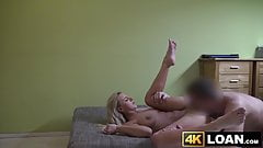 Adorable young lady fucked hard by vigorous loan agent
