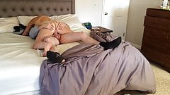 My hot wife's pussy spread wide for my cock.