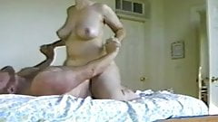 Big white mature tits riding