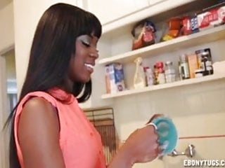 Preview 2 of Hot Ebony Babe Jerks A Dick