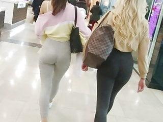 Hot Teen Sluts Tight Leggings - Jiggly Butts & Thong Line