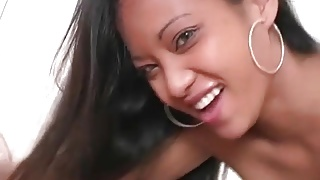 Hawaiian Blowjob Brunette Girl