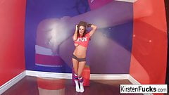 Sexy Kirsten Price hot orange toy solo