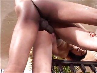 Perky tits curvy black chick fucks and takes a load