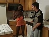 Ebony Enjoy White Dick
